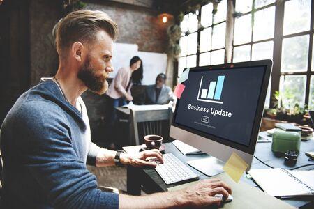 hombres ejecutivos: Gráfico Actualizar Gráfico Gráficos Concept