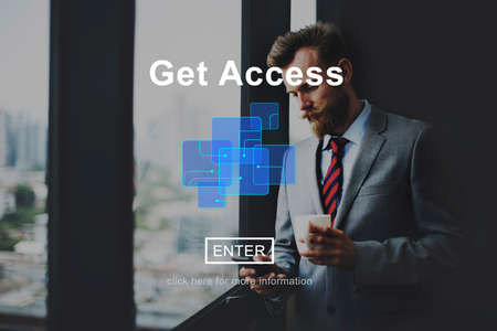 attainable: Get Access Attainable Availability Online Technology Concept Stock Photo