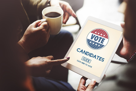 candidates: Candidates Nominee Vote Leader Campaign Concept Stock Photo