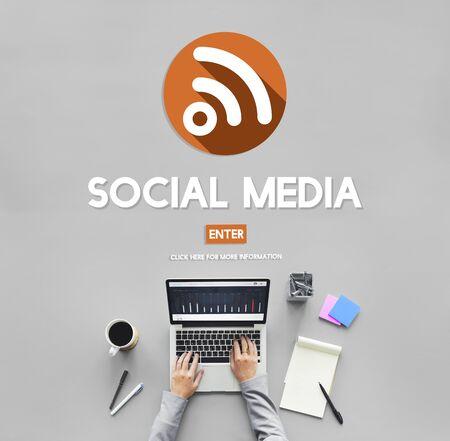 communications tools: Social Media Communication Community Sharing Concept