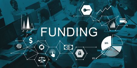 Die Finanzierung Invest Finanz Geld-Budget-Konzept