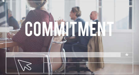 commitment: Commitment Compliance Obligation Responsibility Concept Stock Photo