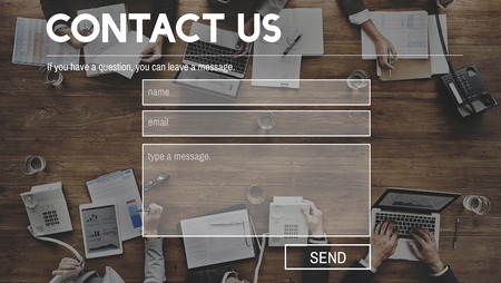 Contact Us Feedback Customer Support Help Concept