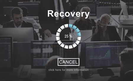 recovery: Recovery Crisis Processing Loading Icon Concept Stock Photo