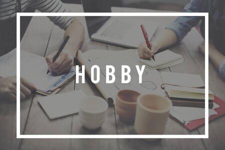 pastimes: Hobby Activity Leisure Pursuit Passion Pleasure Concept
