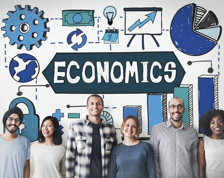 asian business team: Economics Business Costs Finance Accounting Concept