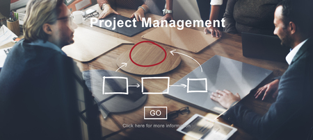 Project Management Collectieve Methods Business Planning Concept Stockfoto