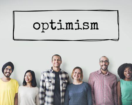 optimismo: El optimismo pensamiento positivo Actitud Concepto Fe