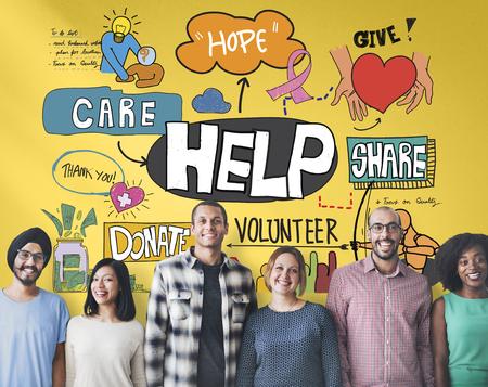 Help Aid Charity Support Welfare Concept Reklamní fotografie