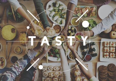 tasteful: Tasty Yummy Delicious Tasteful Concept Stock Photo
