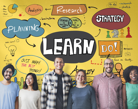 adults learning: Learn Learning Development Education Knowledge Concept Stock Photo