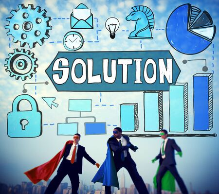 in problem: Solution Problem Solving Ideas Strategy Concept Stock Photo