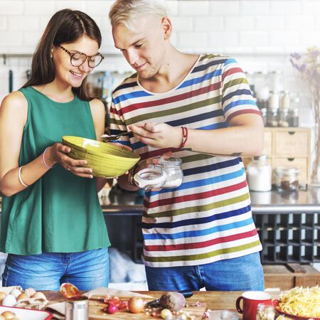 hobby: Couple Cooking Hobby Liefstyle Concept