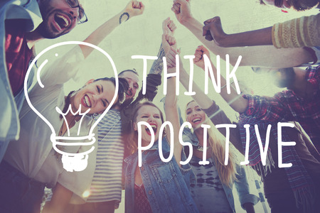 inspire: Think Positive Attitude Optimism Inspire Concept Stock Photo