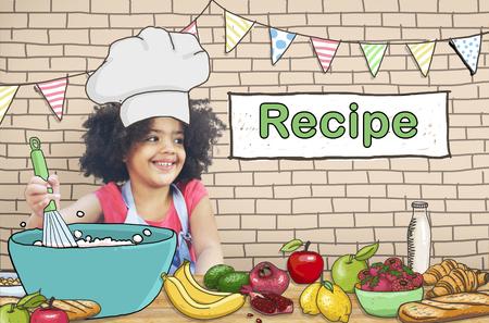 子供料理レシピ食品メニュー コンセプト