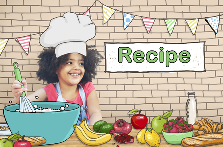 cooking recipe: Kids Cooking Recipe Food Menu Concept