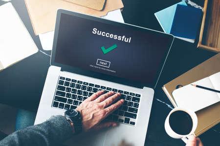 accomplishment: Success Successful Accomplishment Achievement Concept Stock Photo