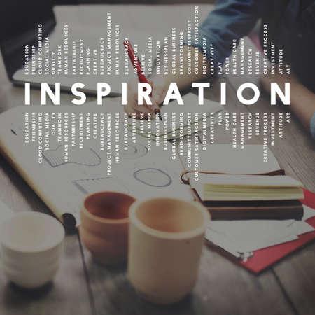 aspiration: Inspiration Aspiration Imagination Inspire Dream Concept