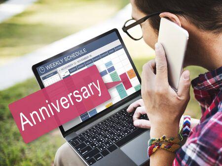 recordar: Aniversario Celebraci�n Anual Recuerde Concepto anual