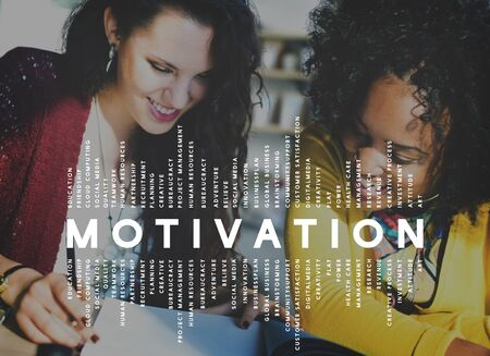 black empowerment: Motivation Inspiration Attitude Thinking Concept Stock Photo