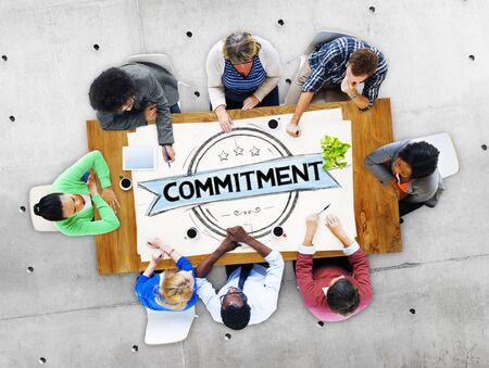 dedication: Commitment Devotion Dedication Conviction Concept