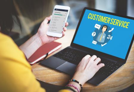 고객 서비스 만족 지원 개념 스톡 콘텐츠 - 54697269