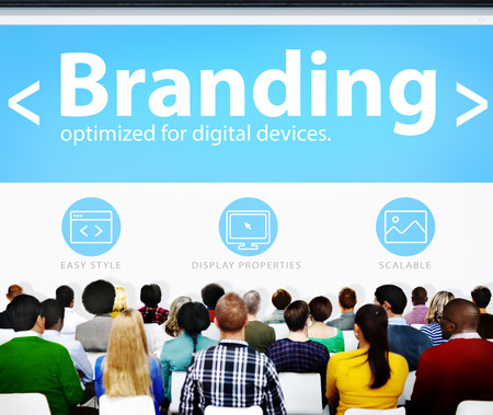 web marketing: Branding Marketing Web Page Seminar Presentation Concept