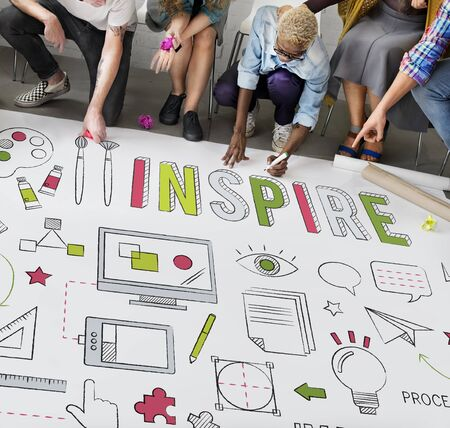 inspire: Inspire Creativity aspiration Inspiration Concept