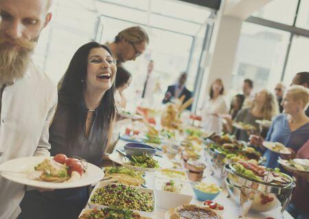 italienisches essen: Food Buffet Catering Dining Eating Party Sharing Concept Lizenzfreie Bilder
