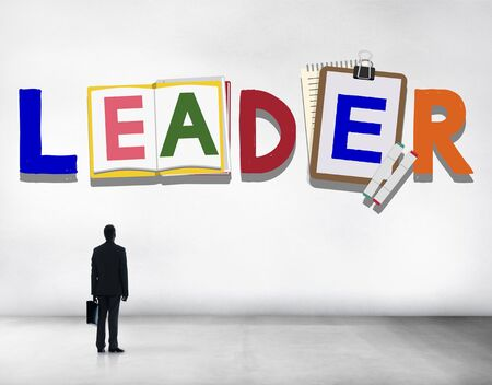 people looking up: Leader Leadership Skill Authority Influence Concept