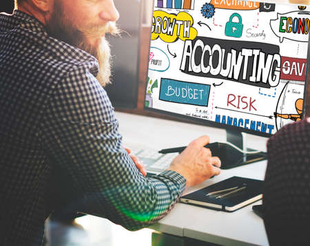 auditing: Accounting Finance Economy Bookkeeping Auditing Concept Stock Photo