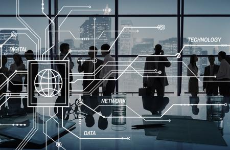 Global Communication Networing Concept de connexion Banque d'images