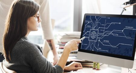 Equipo digital de datos Tecnología Concepto Electrónico