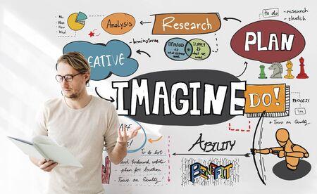 visualise: Imagine Imagination Expect Creative Sketch Concept