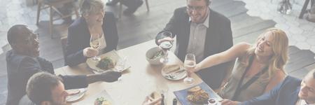 Geschäftsleute, die Party-Feier Erfolgskonzept