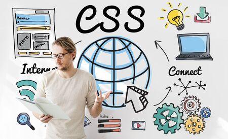 css: CSS Web Online Technology Web Design Concept Stock Photo