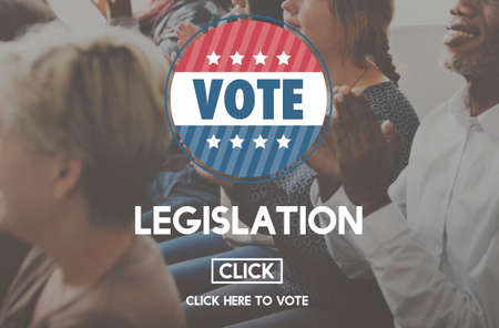 autoridad: Legislaci�n Ley de Justicia Autoridad Concepto votar Foto de archivo