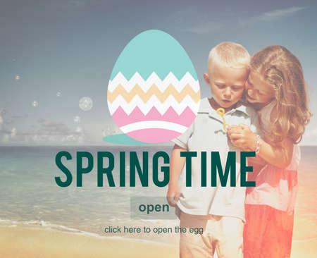 Spring Time Seasonal Bloom Freshness Concept Imagens