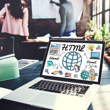 html: HTML Global Communication Software Internet Concept