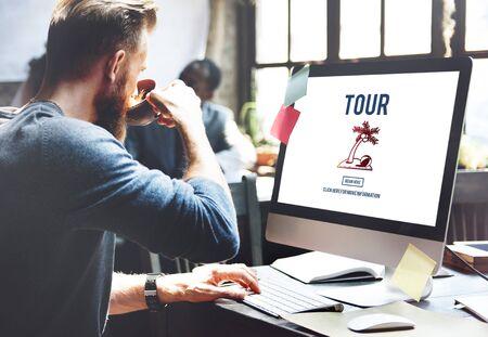 destination: Tour Vacation Travel Destination Concept