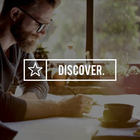Discover Discovery Found Seeking Exploration Concept Stock Photo