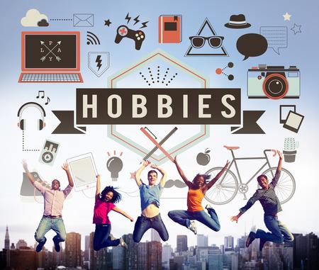 freetime activity: Hobbies Activity Amusement Freetime Interest Concept Stock Photo