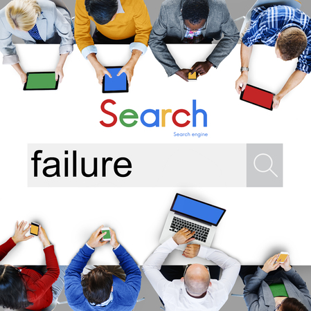failing: Fail Failed Failing Failure Fiasco Defeat Collapse Concept