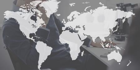 세계 글로벌지도 제작 세계화 지구 국제 컨셉