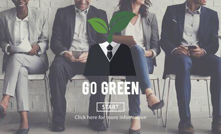 green environment: Ecology Environment Go Green Concept Stock Photo