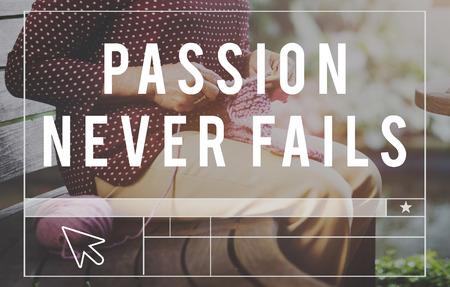 optimism: Passion Never Fails Emotion Optimism Concept Stock Photo