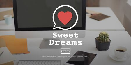 Blind Date: Sweet Dreams Valentine Romance Love Heart Dating Concept