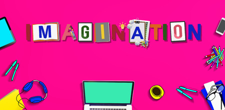 visualise: Imagination Creative Word Design Colorful Concept Stock Photo