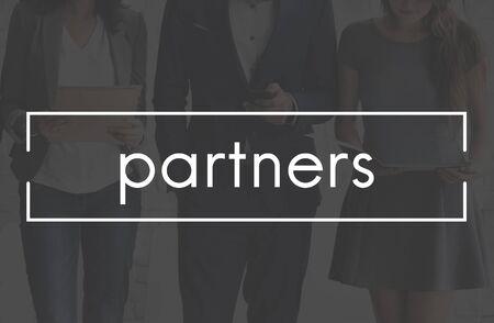Los compañeros de trabajo socios Soporte Concepto Colaboración de las personas