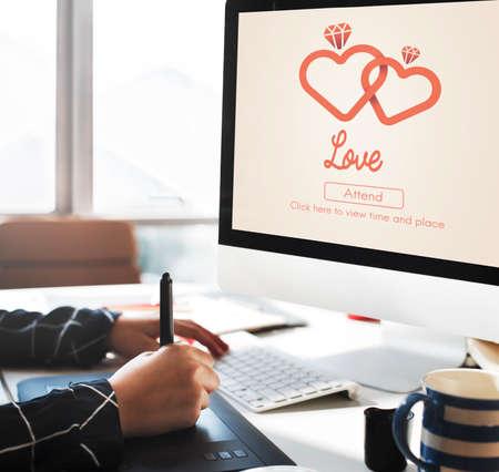 afecto: Amor Adore Emoci�n Cuidado afecto como el amor de Concepto